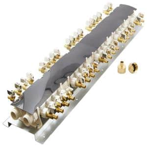 36-Port PEX Manifold with 1/2 in. Brass Ball Valves
