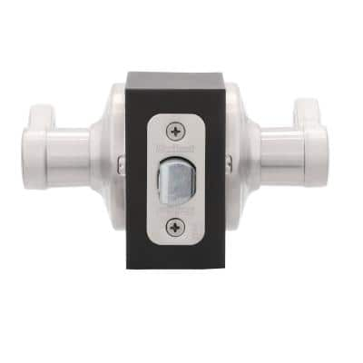 Lido Satin Nickel Passage Hall/Closet Door Lever Featuring Microban Antimicrobial Technology
