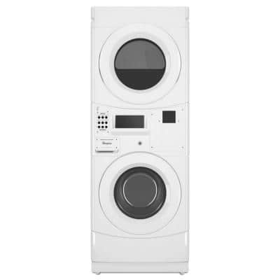 White Commercial Laundry Center with 3.1 cu. ft. Washer and 6.7 cu. ft. 120-Volt Gas Vented Dryer