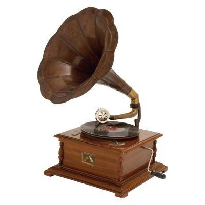 Brown Metal Vintage Gramophone