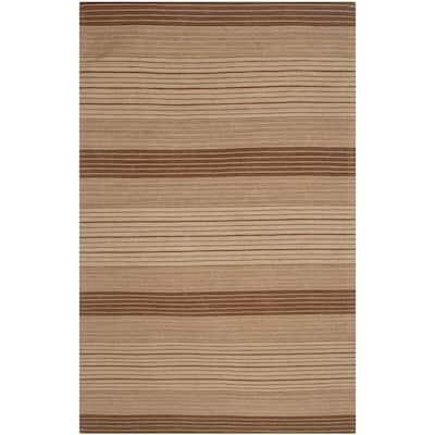 Marbella Beige/Brown 5 ft. x 8 ft. Striped Area Rug