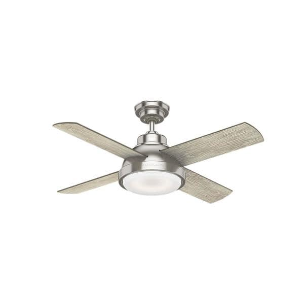 Casablanca Casablanca S Levitt 44 In Brushed Nickel Ceiling Fan With Led Lighting 59436 The Home Depot