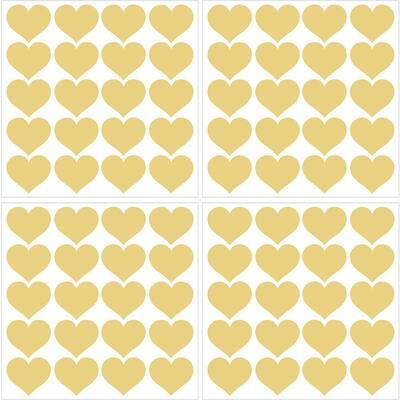 Metallic Metallic Gold Hearts Wall Decal (Set of 2)