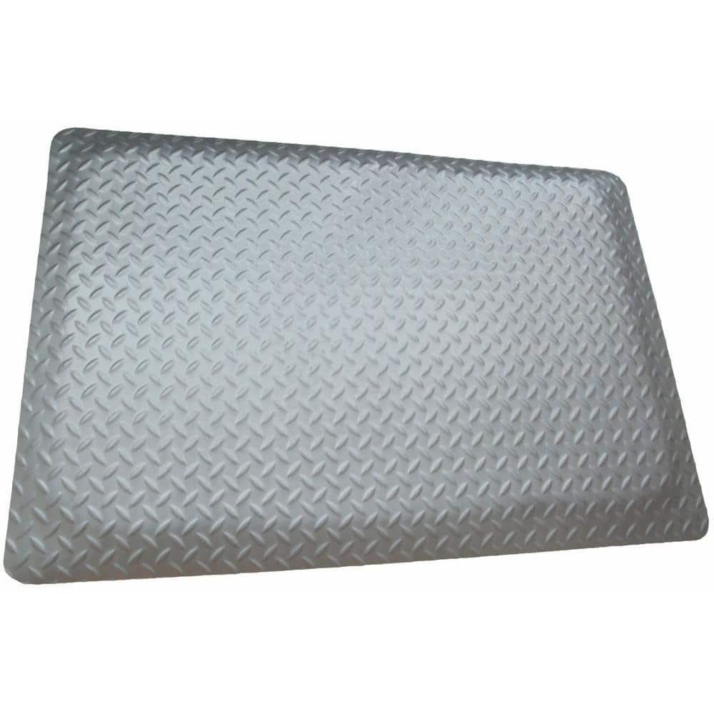 "15//16/"" Thick Black//Yellow Border 36/"" x 60/"" Diamond Plate Ergonomic Mat"