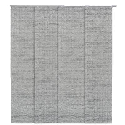 23 in. Slates Up to 86 in. W x 96 in. L Munich Castle Pleated Natural Woven Adjustable Sliding Window Panel Track
