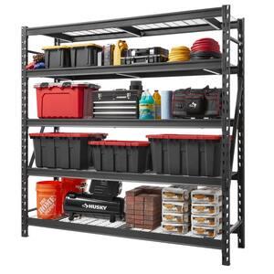 Black 5-Tier Heavy Duty Industrial Welded Steel Garage Shelving Unit (90 in. W x 90 in. H x 24 in. D)