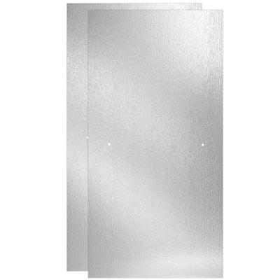 29-1/32 in. x 67-3/4 in. x 1/4 in. (6 mm) Frameless Sliding Shower Door Glass Panels in Rain (For 50-60 in. Doors)