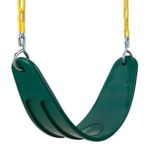 Deluxe Green Belt Swing with Yellow Chains