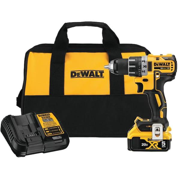 DeWALT 20V 5.0 Ah MAX XR Cordless Brushless 1//2 in Drill//Driver Combo #DCD791P1