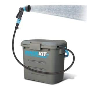 2 Gal. Portable Pressurized Outdoor Shower with Pump in Grey