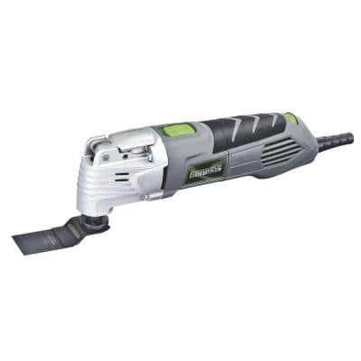 2.5 Amp Variable Speed Multi-Purpose Oscillating Tool and 17-Piece Universal Hook-And-Loop Accessory Set with Box