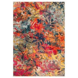 Monaco Blue/Orange 5 ft. 1 in. x 7 ft. 7 in. Area Rug