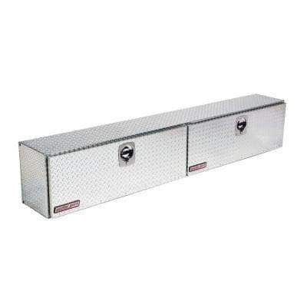 96.25 Diamond Plate Aluminum Full Size Top Mount Truck Tool Box