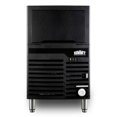 21 in. 100 lb. Built-In Commercial Ice Maker in Black