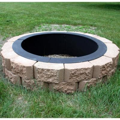 30 in. Dia Round Steel Wood Burning Fire Pit Rim Liner