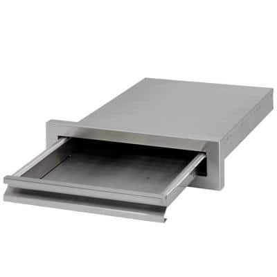 Outdoor Kitchen 15-3/8 in. Storage Built-In Stainless Steel BBQ Griddle Tray