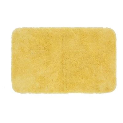 New Regency Yellow 24 in. x 40 in. Nylon Machine Washable Bath Mat