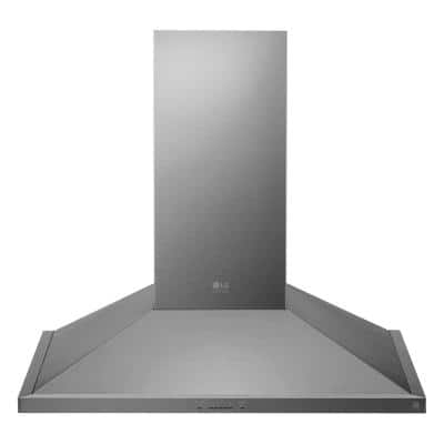 36 in. Smart Wall Mount Range Hood with Light & Wi-Fi Enabled in Stainless Steel