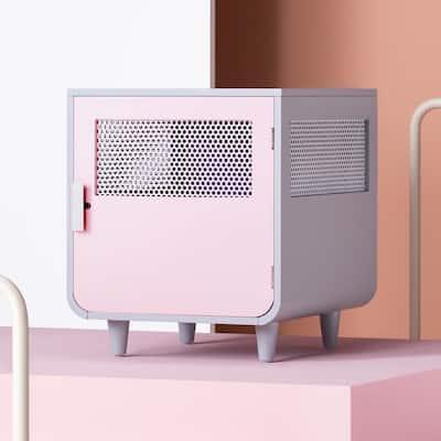 Radius Small Chablis Pink Wooden Dog Crate