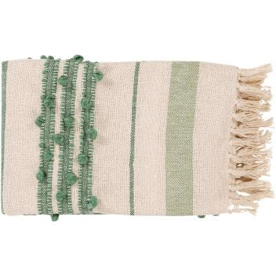 Strydom Green Throw Blanket