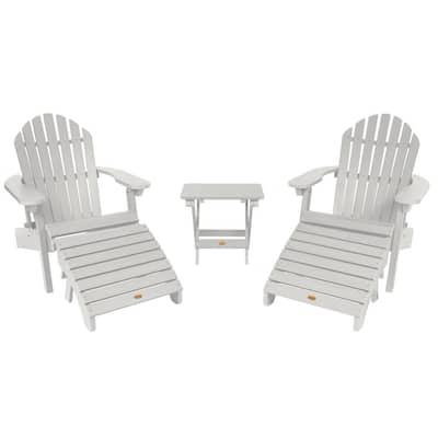 Hamilton White 5-Piece Recycled Plastic Outdoor Conversation Set