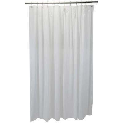 Sanitized 10-Gauge Peva 72 in. White Shower Liner