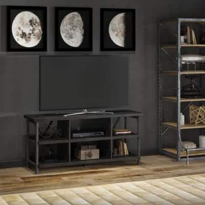 Irondale 54 in. Grant Oak Brown Particle Board TV Stand Fits TVs Up to 60 in. with Cable Management