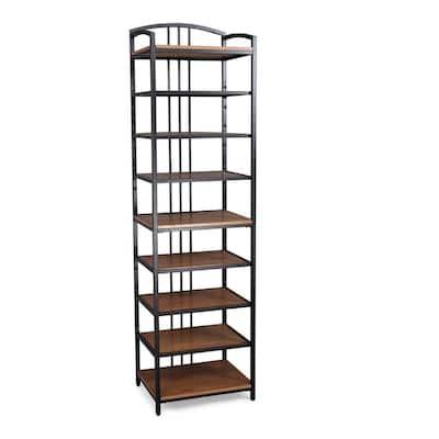 Modern Craftsman 25 in. Oak Wood Wall Closet System