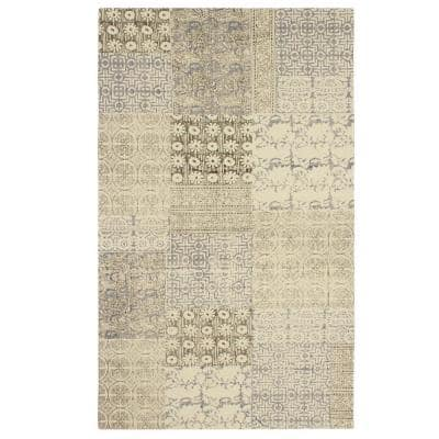 Boise Stonewashed Beige/Brown 3 ft. x 5 ft. Distressed Moroccan Accent Rug