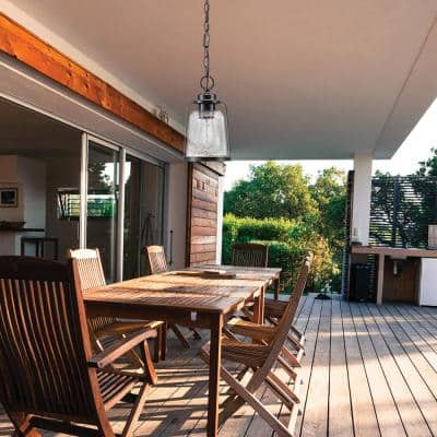 Roth 1-Light Oil Rubbed Bronze Outdoor Indoor Hanging Pendant