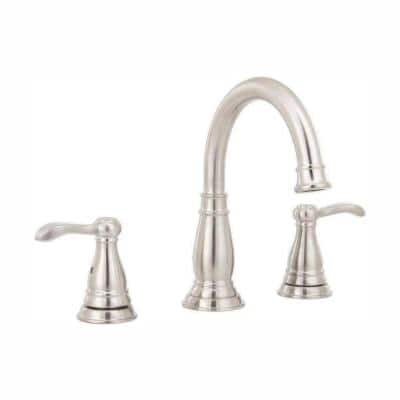 Porter 8 in. Widespread 2-Handle Bathroom Faucet in Brushed Nickel