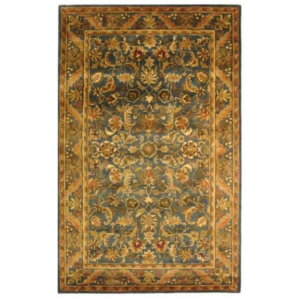 Safavieh Antiquity Blue Gold 9 Ft X 12 Ft Area Rug At52c 912 The Home Depot