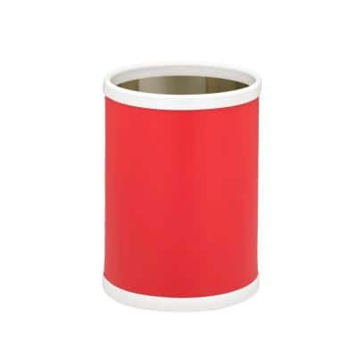 Bartenders Choice Fun Colors Red 8 Qt. Round Waste Basket