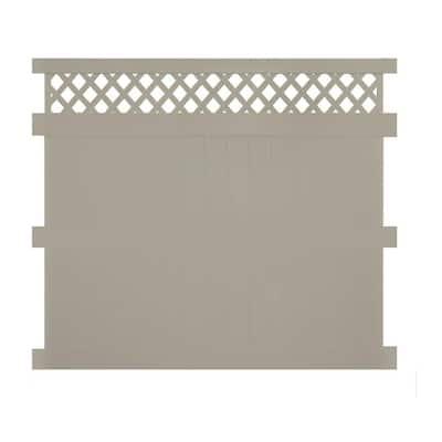 Ashton 8 ft. H x 8 ft. W Khaki Vinyl Privacy Fence Panel Kit