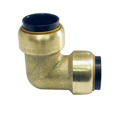 3/4 in. Brass Push-to-Connect 90-Degree Elbow