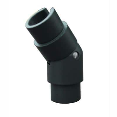 1.9 in. Aluminum Round ADA Handrail Bronze Adjustable Angle
