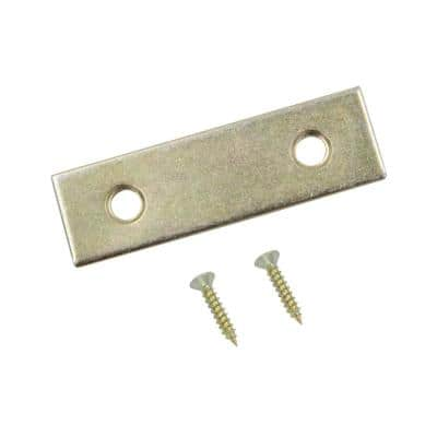 2 in. Satin Brass Mending Plate (4-Pack)