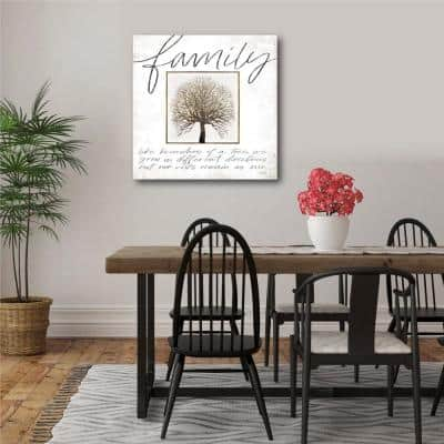 Family tree 16 in. x 16 in. Gallery-Wrapped Canvas Wall Art