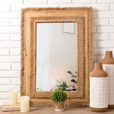 "26.00""L X 36.00""H Oversized Bohemian Style decorative Wall Mirror"