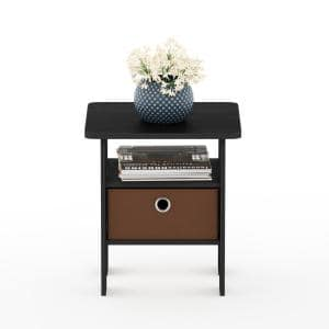 Andrey Americano/Medium Brown End Table Nightstand with Bin Drawer