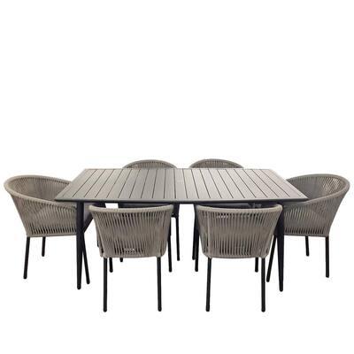 Osborne 6-Piece Aluminum Outdoor Dining Set
