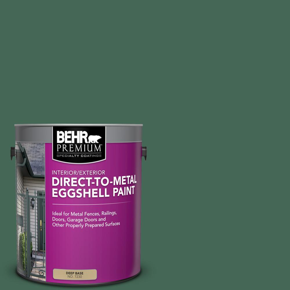 Behr Premium 1 Gal M420 7 Billiard Green Eggshell Direct To Metal Interior Exterior Paint 723001 The Home Depot