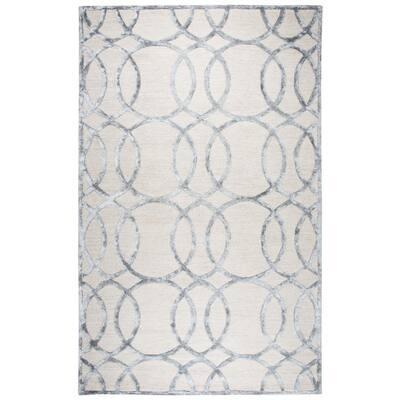 Madison Ivory/Gray 8 ft. x 10 ft. Geometric Area Rug