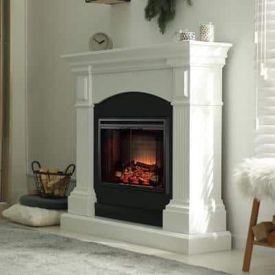 33.5 in. Ventless Electric Fireplace Insert