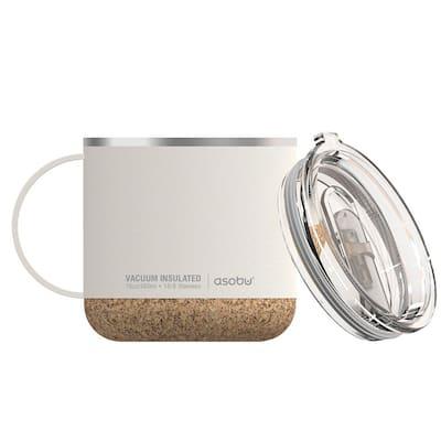 16 oz. White Stainless Steel Vacuum Insulated Travel Mug