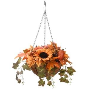 18 in. Harvest Gourd Hanging Basket