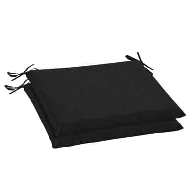 Oak Cliff 20 x 18 Sunbrella Canvas Black Outdoor Chair Cushion (2-Pack)