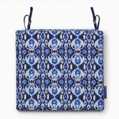 Vera Bradley 21 in. L x 19 in. W x 3 in. Thick Outdoor Patio Dining Seat Cushion in Ikat Island