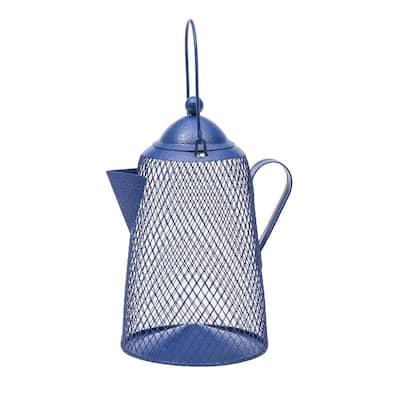 Coffee Pot Mesh Hanging Bird Feeder - 2 lb. Capacity