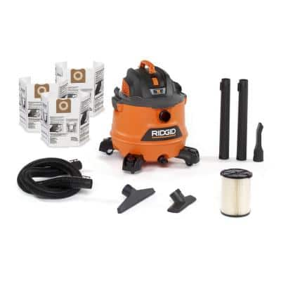 14 Gallon 6.0-Peak HP NXT Wet/Dry Shop Vacuum with Fine Dust Filter, Dust Bags, Hose and Accessories